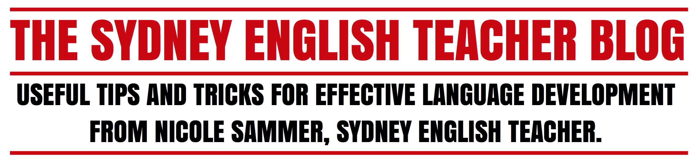 The Sydney English Teacher Blog